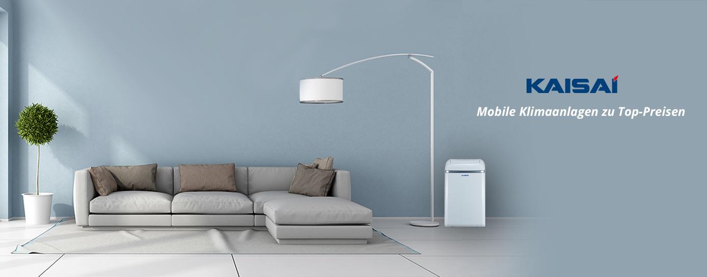 kaisai mobile klimaanlage 9000 btu 2 6 kw klimager t bis 40qm portabel ebay. Black Bedroom Furniture Sets. Home Design Ideas